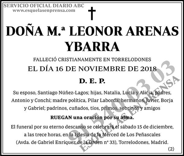 M.ª Leonor Arenas Ybarra